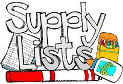 School Supply List...click here!